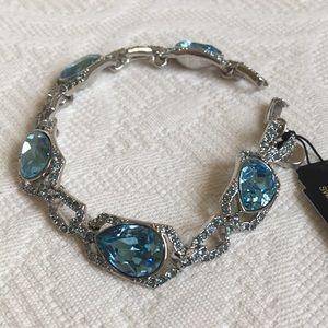 Givenchy Swarovski brilliant blue bracelet